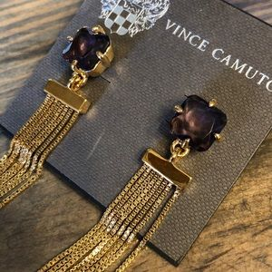 Vince Camuto Gorgeous Amethyst and gold earrings